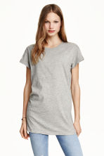 Long T-shirt - Grey marl - Ladies | H&M 2