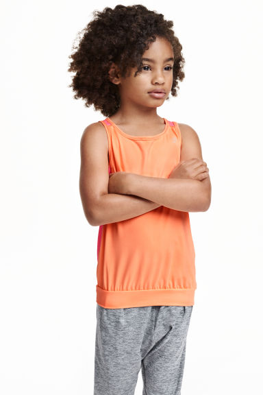 Sports top - Light orange - Kids | H&M CN