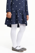 2-pack patterned tights - White - Kids | H&M 1