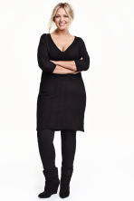H&M+ Fine-knit dress - Black - Ladies | H&M CN 1