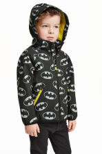 Softshell jacket - Black/Batman - Kids | H&M CN 1