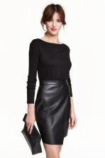 Boat-neck top - Black - Ladies | H&M CN 3