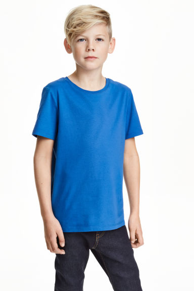 Cotton T-shirt - Cornflower blue -  | H&M CN 1