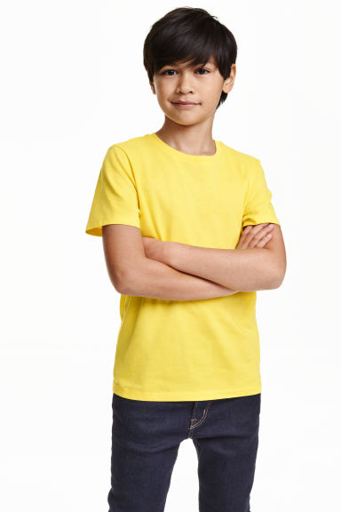Cotton T-shirt - Yellow -  | H&M CN 1