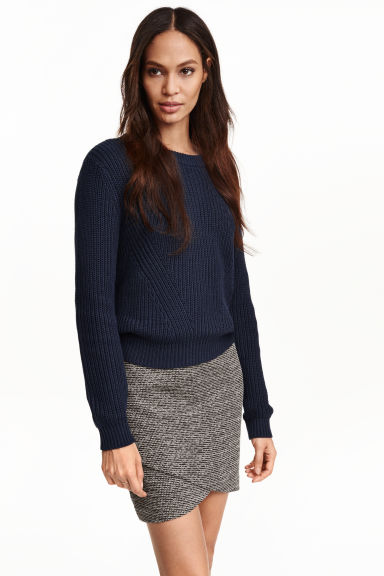 Short wrap skirt - Dark grey/Patterned - Ladies | H&M GB
