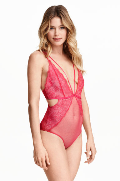 Lace body - Cerise -  | H&M GB