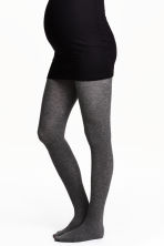 MAMA 2-pack tights - Grey/Black - Ladies | H&M 1