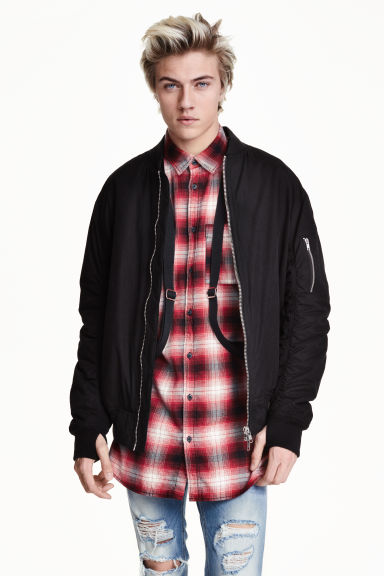 Bomber jacket with braces - Black - Men | H&M GB 1