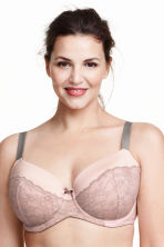 Padded underwired bra E-F cup - Light pink - Ladies | H&M CN 1
