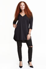 H&M+ V-neck tunic - Black - Ladies | H&M CN 1