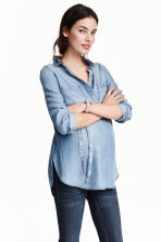 MAMA Lyocell blouse - Denim blue -  | H&M 2