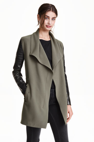 Biker jacket - Khaki green - Ladies | H&M CN 1