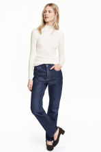 Jeans Straight Regular - Azul denim escuro  - SENHORA | H&M PT 1
