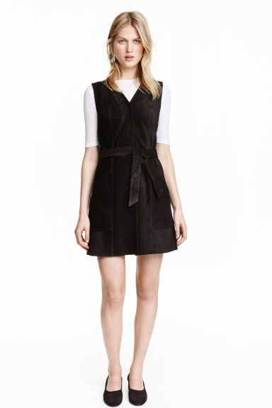 Suede dress - Black - Ladies | H&M IE