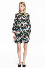 Patterned tiered dress - Black - Ladies | H&M CN 1