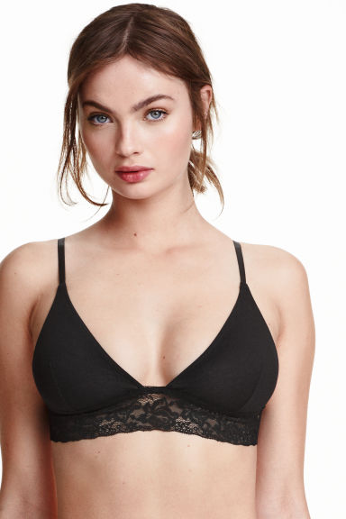 2-pack soft cotton bras - Black/White - Ladies | H&M CN 1