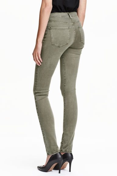 Shaping Skinny Regular Jeans - Khaki green - Ladies | H&M CN 1