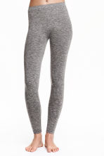 Seamless leggings - Grey marl - Ladies | H&M CN 1