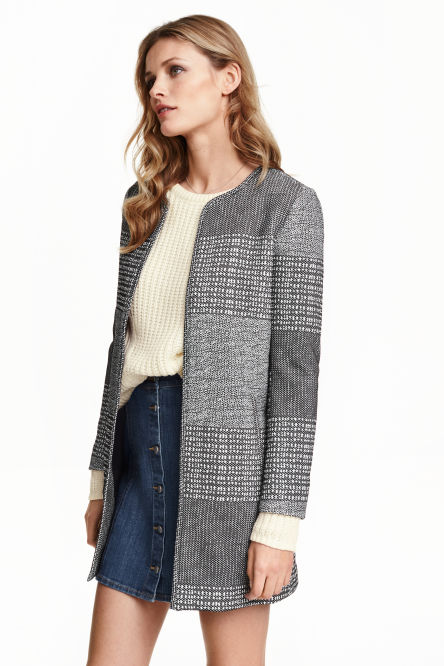 Jacket in a textured weave