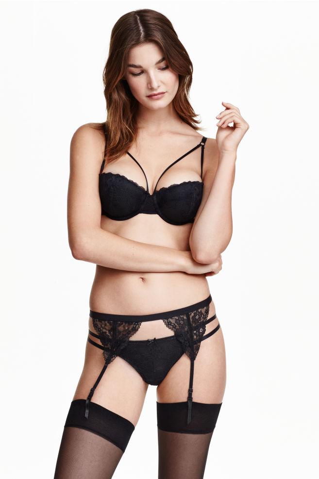 Portejarretelles Noir FEMME HM FR - Ensemble porte jarretelle