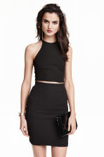 Crop top - Black - Ladies | H&M GB 1