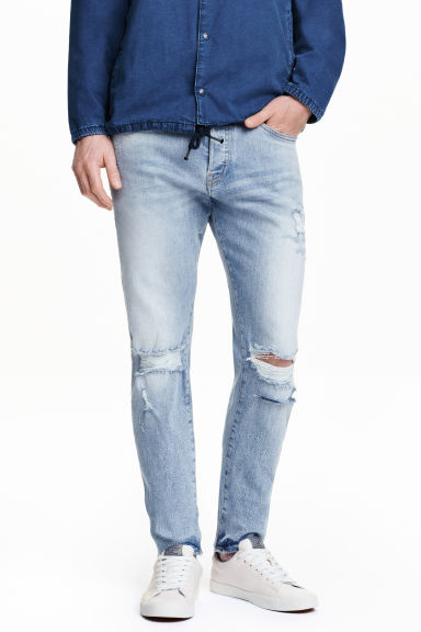 Slim Low Jeans - Blu denim chiaro - UOMO | H&M IT