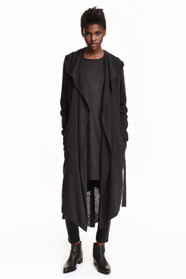 Crêpe coat - Black - Ladies | H&M CN