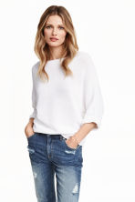 Purl-knit jumper - White - Ladies | H&M 2