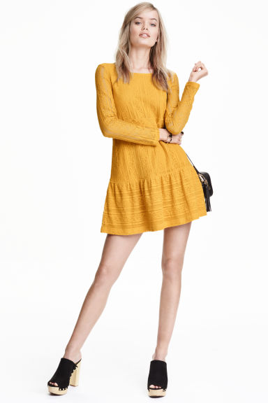 Lace dress - Yellow - Ladies | H&M GB 1