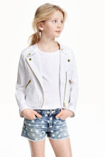 Biker jacket - White - Kids | H&M CN 1