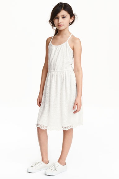 Lace dress - White - Kids | H&M GB 1
