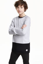 Block-coloured jumper - Light grey - Kids | H&M CN 1