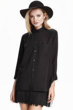 Viscose shirt - Black - Ladies | H&M GB 2