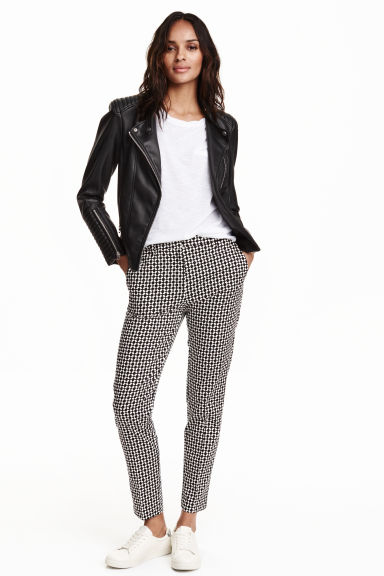 Trousers - Black/Patterned - Ladies | H&M CN 1