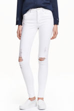 Skinny High Trashed Jeans - White - Ladies | H&M CN 1