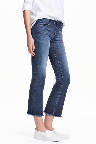Kick Flare Ankle Jeans - Light denim blue - Ladies   H&M GB