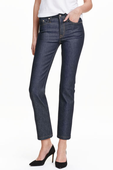 Straight High Ankle Jeans - Azul denim escuro - SENHORA | H&M PT