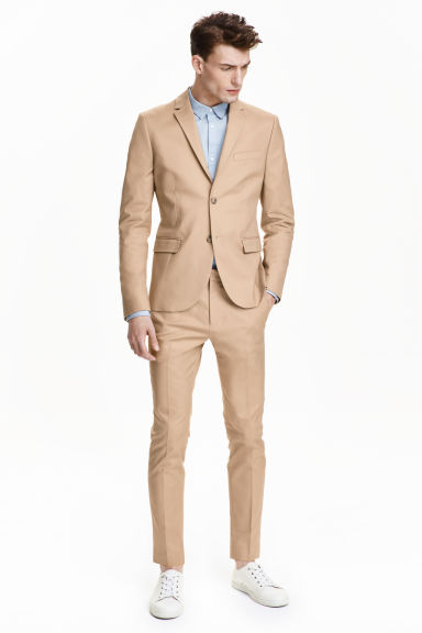 Suit trousers in cotton - Beige - Men | H&M CN 1