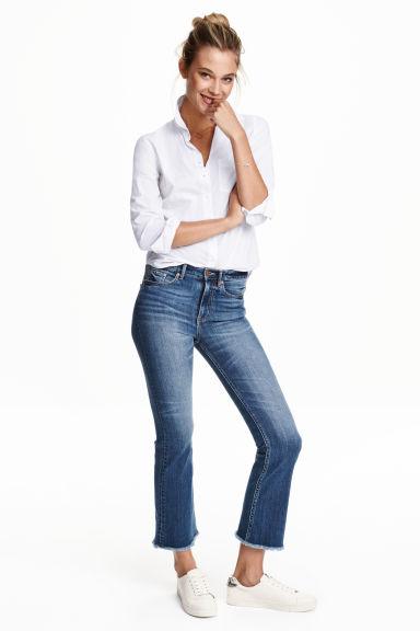 Kick Flare Regular Jeans - Dark denim blue - Ladies   H&M GB