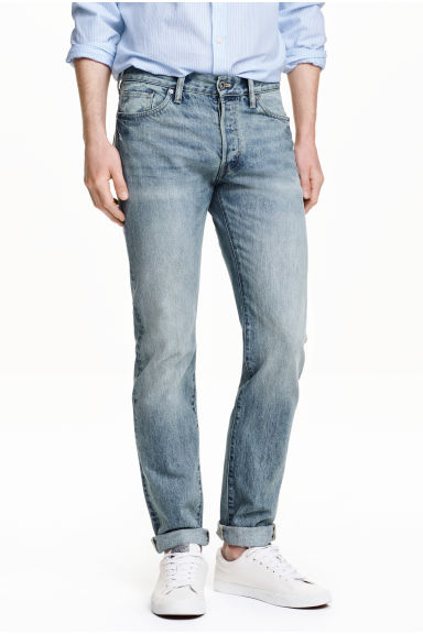Jeans Slim Regular - Albastru-denim deschis -  | H&M RO