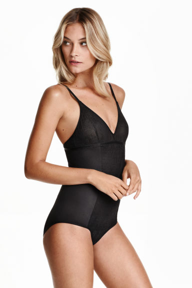 Shaping body with lace - Black - Ladies | H&M CN 1