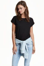 Tricot T-shirt - Zwart - DAMES | H&M BE 4