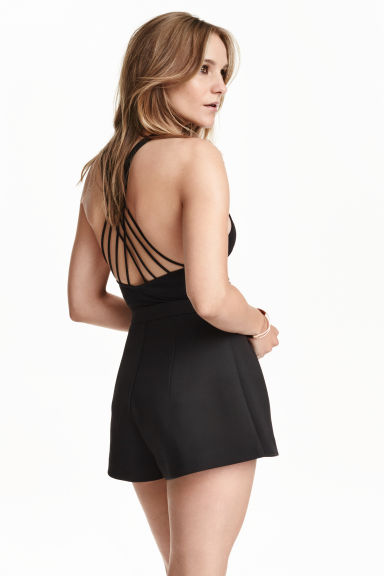 Body with back detail - Black - Ladies | H&M GB 1