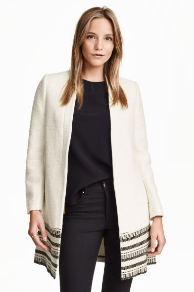 Short coat - Natural white - Ladies | H&M CN 1