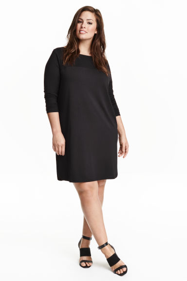 H&M+ Boat-necked jersey tunic - Black - Ladies | H&M CN 1