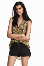 Sleeveless blouse - Black/Patterned - Ladies | H&M CN 1