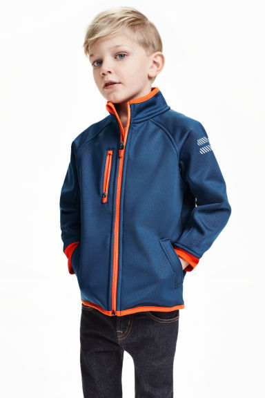 Windproof fleece jacket - Dark blue - Kids | H&M CN