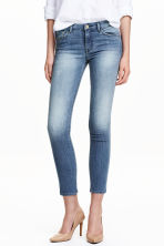 Slim Low Cropped Jeans - 牛仔蓝 - 女士 | H&M CN 1