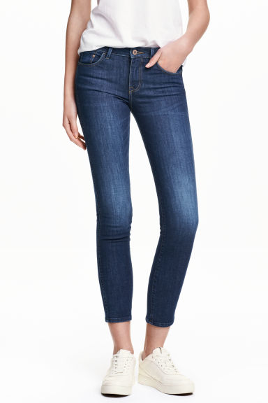 Slim Low Cropped Jeans - Azul denim escuro -  | H&M PT