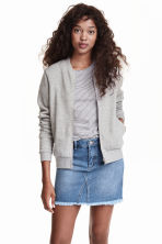 Sweatshirt jacket - Grey marl - Ladies | H&M 3